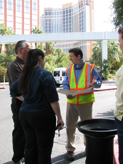 Demonstrating the Manhole Odor Eliminator