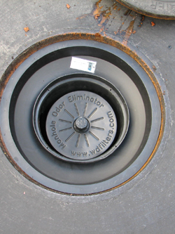 Installed Manhole Odor Eliminator