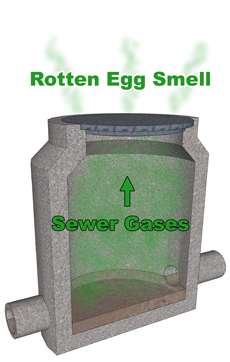 Manhole Odor from Hydrogen Sulfide Gas