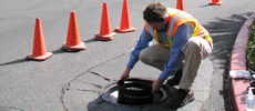 Installing the Manhole Odor Eliminator